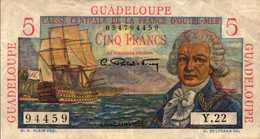 GUADELOUPE (Caisse Centale France O.M.) 5 FRANCS  1947-49nd  Pick 31 - France