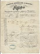 NIMES . VINS LIQUEURS BENOIT GUIZOT. 1837 - Alimentaire