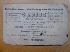 14 - Honfleur - Café/restaurant Des Prévoyants De L'Avenir - E.MARIE - Cartes De Visite