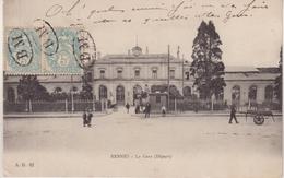 FRANCE : TYPE BLANC . 5 Cts . 2 EX . OBL BM . SUR CP DE RENNES . 1905 . - 1877-1920: Periodo Semi Moderno