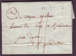 SEINE ET OISE - LAC - Saint Cloud - ST CLOUD (30x3,5) L1 (1795) + Taxe 11 Pour St Jeandelome (68) - Postmark Collection (Covers)
