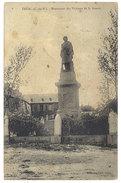 Cpa Eréac - Monument Des Victimes De La Guerre ( Cachet Perlé ) - Francia