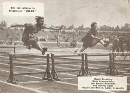 Photo 1929  Paris Stade Pershing  Gala International De Sports Feminins 110m Haies Gagne Par Laloz - Leichtathletik