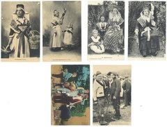 6 Cpa Ariège, Bethmalaise, Types Aulus, Chèvre, Fileuse - France