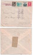ESPAGNE - LETTRE Pour ALGER ALGERIE Avec CENSURE MILITAIRE De SAN SEBASTIAN De LASARTE - 1931-Aujourd'hui: II. République - ....Juan Carlos I