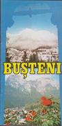 ROMANIA -BUSTENI ( Prahova Valley )  Winter Sports Resort  1988  - 3 Scans - Toeristische Brochures