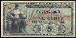 UNITED STATES 1951 - MILITARY PAYMENT CERTIFICATE (SERIES 481) 5 CENTS OFFER!!! - Certificati Di Pagamenti Militari (1946-1973)