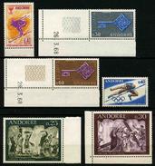 ANDORRE FRANCAIS - ANNEE COMPLETE 1968 - YT 187 à 193 ** -  TIMBRES NEUFS ** - Französisch Andorra
