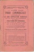 Programme De La FOIRE COMMERCIALE & SON EXPOSITION AGRICOLE à FRAITURE-EN-CONDROZ Les 22, 23 & 29 AOUT 1937 - Programs
