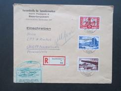 Saarland 1955 Nr. 362 - 364 FDC / Bedarf Volksbefragung. Einschreiben Mit Zollvermerk! Zollfrei / Versandstelle Für BM - 1947-56 Allierte Besetzung