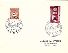 FRANCE 1947 - LETTRE-  CACHET ROND EXPOS: ENSEIGN: CATHOLIQUE - PARIS 19 SEPT 47 - France