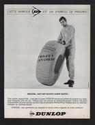 Publicité Papier 1966 Automobile PNEU DUNLOP Projet Concorde - Pubblicitari