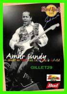 MUSICIENS - AMAR SUNDY EN CONCERT AU HARD ROCK CAFÉ DE PARIS EN 1998 - - Musique Et Musiciens