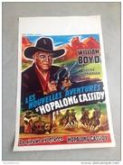 "William Boyd"" Les Nouvelles Aventures D´hopalong Cassidy""Edgar Buchanan Affiche Ancienne Western 1958 - Affiches & Posters"