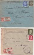 ALLEMAGNE : 6 LETTRES . POUR GENEVE DE PG . REGION PRUSSE EST , SUDETES ....1941 . - Briefe U. Dokumente