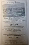 Publicité 1887 Grand Hotel Bains Frascati Le Havre Fotsch Bains Mer Goulgate Hotel Beau Séjour Rouen Honfleur Villers S - Autres