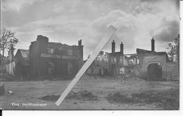 10/08/1915 Vimy Les Ruines De La Ville Façades Encore Debout 1 Carte Photo 14-18 1914-1918 Ww1 Wk1 - Guerre, Militaire