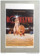 """ISABELLE PASCO """"Roselyne Et Les Lions""""Gérard Sandoz Cirque 1989 Affiche Ancienne - Posters"""
