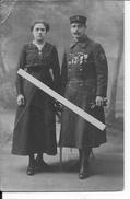 Vétéran 1914-1918 Légion étrangère Et Sa Fiancée Croix De Guerre Médaille Militaire Coloniale Maroc 1carte Photo Ww1 Wk1 - Krieg, Militär