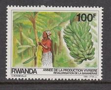 1985 Rwanda 100F Fruit Banana Banane  MNH  Much Cheaper Than Buying In Set - Obst & Früchte