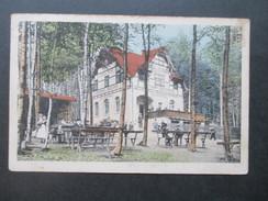 AK 1922 Sommerfrische Restaurant Zur Jagdschenke Besitzer Max Vogel. Bahnpost Meinersdorf - Schönfeld - Hotels & Gaststätten