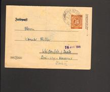 Alli.Bes.24 Pfg. Ziffer Auf Fernbrief Aus Blankensee Von 1946 - Gemeinschaftsausgaben