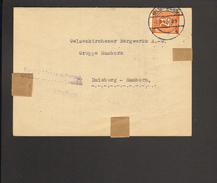 Alli.Bes.24 Pfg. Ziffer Auf Fernbrief Aus Gelsenkirchen Von 1947 Aptierter Alt-Einkreissteg-Stempel - Gemeinschaftsausgaben