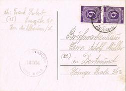20975. Tarjeta LANGULA (Thuringen) Alemania Zona Anglo Americana 1949. CENSORSHIP. Censura Civil - Zone Anglo-Américaine