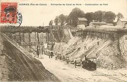 A-17-594 :  HERMIES ENTREPRISE DU CANAL DU NORD. CONSTRUCTION D UN PONT . - France