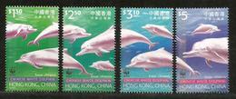 Dauphins Blancs De Chine, Série Complète 4 Timbres Neufs ** WWF De Hong-Kong - Dauphins
