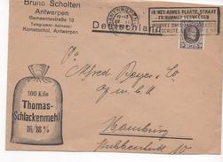 3104   Carta  Comercial Antwerpen 1926 Belgica, Thomas Schlackenmehl - Bélgica