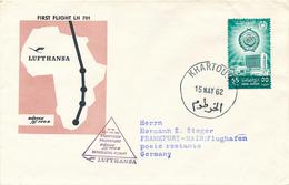SUDAN , KHARTOUM  - 1962 , First Flight  LH 701  Khartoum - Frankfurt - Sudan (1954-...)