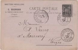 Carte Commerciale 1896 BAUMANN / Remiremont 88 Vosges - Cartes