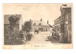 CPA 41 SASSAY La Place Animation Attelage Charron Maisons 1908  Peu Commune - France