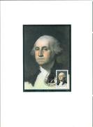 """SAO TOME & PRINCIPE 1982 -  Carte Maximum """" GEORGE WASHINGTON  """""""