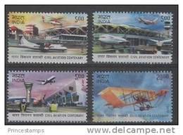 India (2012)  - Set -   /  Airplane - Avion - Avio - Plane - Helicopter - Aviones