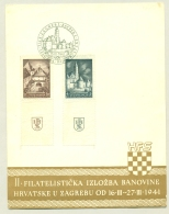 Jugoslavija - 1941 - Zagreb Stampshow Set With Tab On Special Card - 1931-1941 Königreich Jugoslawien