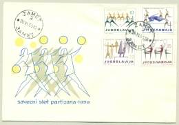 Jugoslavija - 1959 - Partizan Sport-set On 2 Covers 1st Day -  Serveral Sports - 1945-1992 Repubblica Socialista Federale Di Jugoslavia