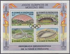 SANTO TOME Y PRINCIPE 1980 HB-18 NUEVO - Sao Tomé Y Príncipe
