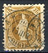 Svizzera 1882-1904 N. 80 F. 3 Bistro Arancio Fil. 1 Usato Cat. € 40 - 1882-1906 Stemmi, Helvetia Verticalmente & UPU