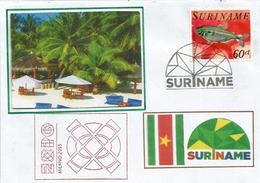 Suriname.Amérique Du Sud. Lettre Pavillon Suriname à L'EXPO UNIVERSELLE MILAN 2015, Avec Timbre Suriname - 2015 – Milan (Italy)
