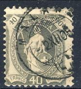 Svizzera 1904 N. 92 C. 40 Grigio (cifre Piccole, 4 Chiuso In Alto) Fil. 1 Usato Cat. € 46 (2) - Usati