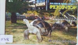 Télécarte Japon * TORTUE  (1128)  PHONECARD JAPAN * TURTLE * TELEFONKARTE * SCHILDKRÖTE * SCHILDPAD - Schildpadden