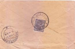 BRITISH INDIA - 1937 COMMERCIAL COVER BOOKED FROM GEETA PRESS, GORAKHPUR FOR SAMBHARLAKE, JAIPUR STATE - India (...-1947)