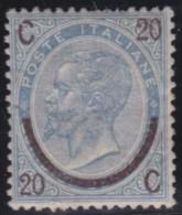 Italy     .        Yvert    .    22 III          .            *            .            Mint-hinged - 1861-78 Vittorio Emanuele II