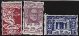 Italy     .        Yvert    .      121/123            .            *            .            Mint-hinged - Ungebraucht