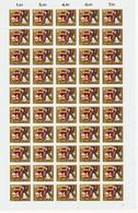 Kompleter Bogen  1964 Märchen Der Brüder Grimm   Mi Nr 447-450   Postfris - [7] République Fédérale