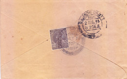 BRITISH INDIA - 1936 COVER BOOKED FROM PARSI R. M. S. FOR SAUGAR CANT. - OVAL MARKING OF 'LATE FEE NOT PAID' - India (...-1947)