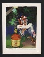 Pub Papier 1974 Humour KIRAZ Cognac Gaston De Lagrange Chien Teckel - Advertising