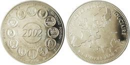 MEDAILLE 2002 - Naissance De L'Euro Fiduciaire.En Nickel - Monnaie Tranche:canelée Sous Capsule - Francia